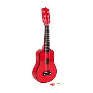 Červená kytara na hraní Legler