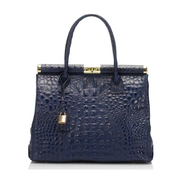 Modrá kožená kabelka Lisa Minardi Lantha