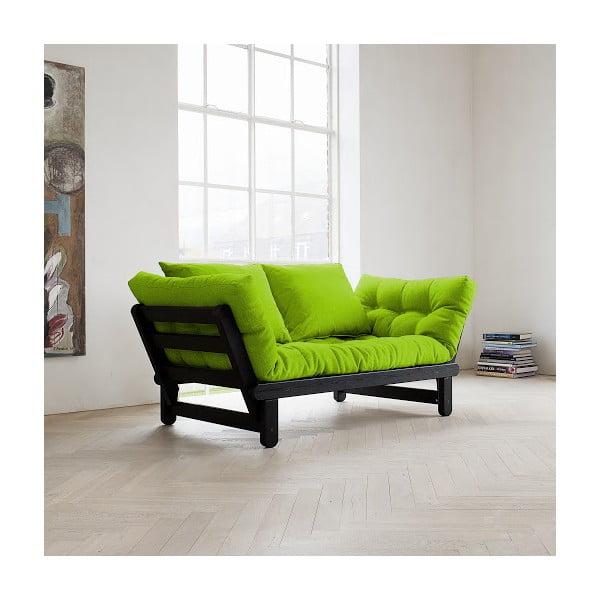 Canapea extensibilă Karup Beat Black/Lime