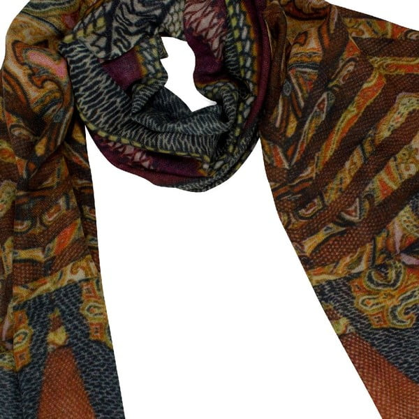 Vlněný šátek Shirin Sehan Tanja Burgundy