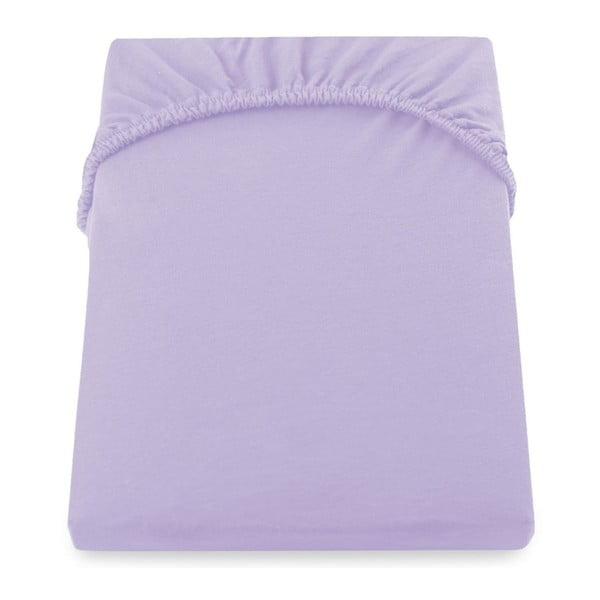 Cearșaf de pat cu elastic DecoKing Nephrite Violet, 200–220 cm, violet deschis