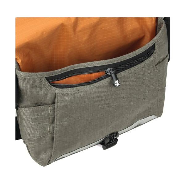 Taška Dinky Di Messenger S, khaki/oranžová