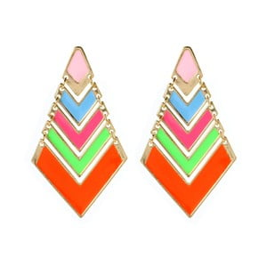 Náušnice Chevron Pop Neon Multi