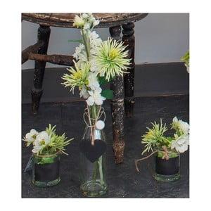 Skleněná váza s umělou květinou Chrysanthemum, 38 cm
