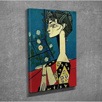 Reproducere tablou pe pânză Pablo Picasso Jacqueline with Flowers, 30 x 40 cm