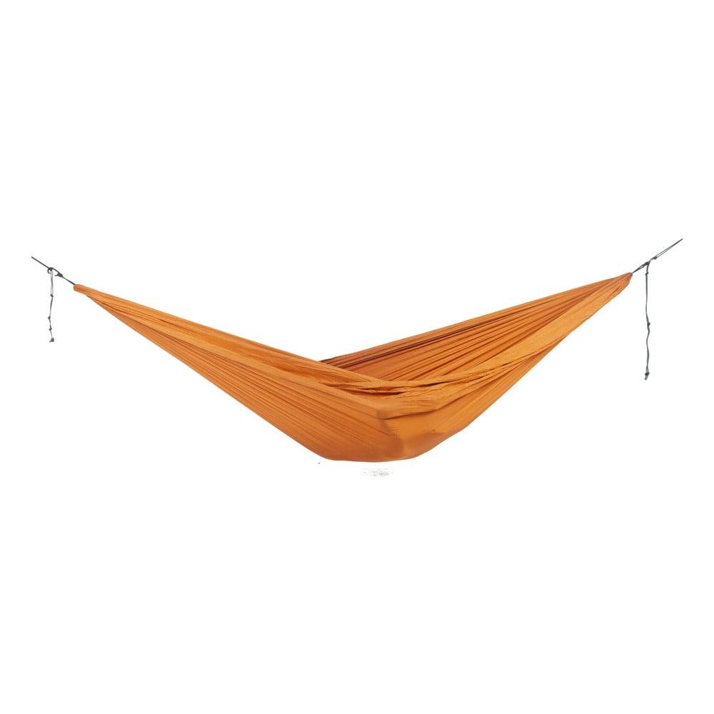 Oranžová houpací síť Descotis Chandra,, délka 320 cm