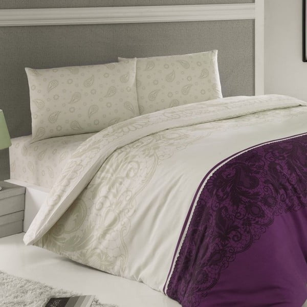 Povlečení Luxury Time Purple, 240x220 cm