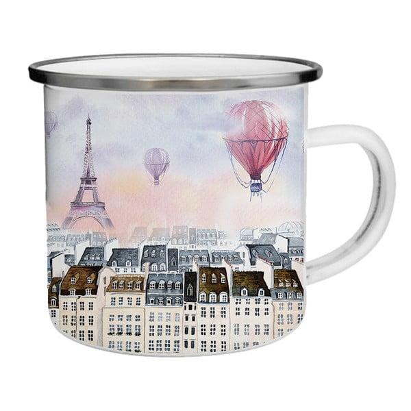 Smaltovaný hrnek s Eiffelovou věží TinMan, 200 ml