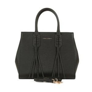 Černá kabelka ze saffiano kůže Laura Ashley Bardsley