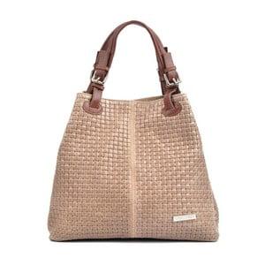 Růžovobéžová kožená kabelka Isabella Rhea Mihlia