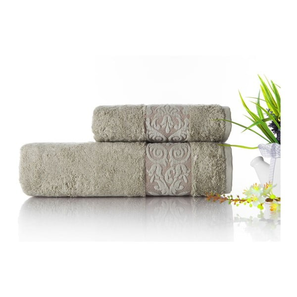Sada 2ks ručníků Bamboo Glory Green, 50x90 cm a 70x140 cm