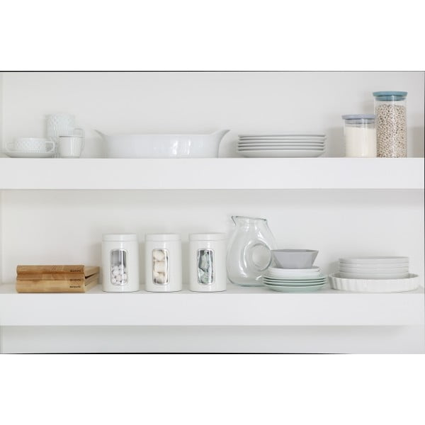 Sada 3 bílých kuchyňských dóz Brabantia, 1,4 l