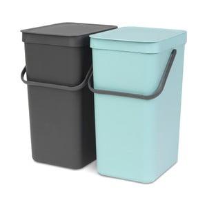 Sada 2 odpadkových košů Brabantia, 16 l