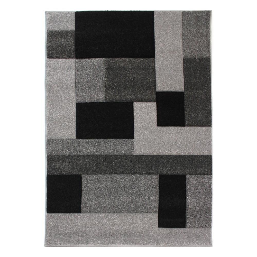 Černošedý koberec Flair Rugs Cosmos Black Grey, 80x150cm
