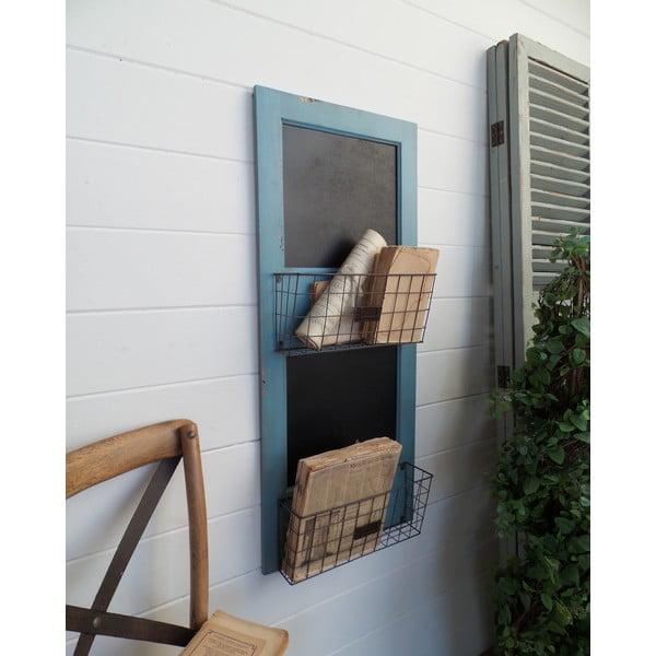 Nástěnný stojan na časopisy Board Turquoise