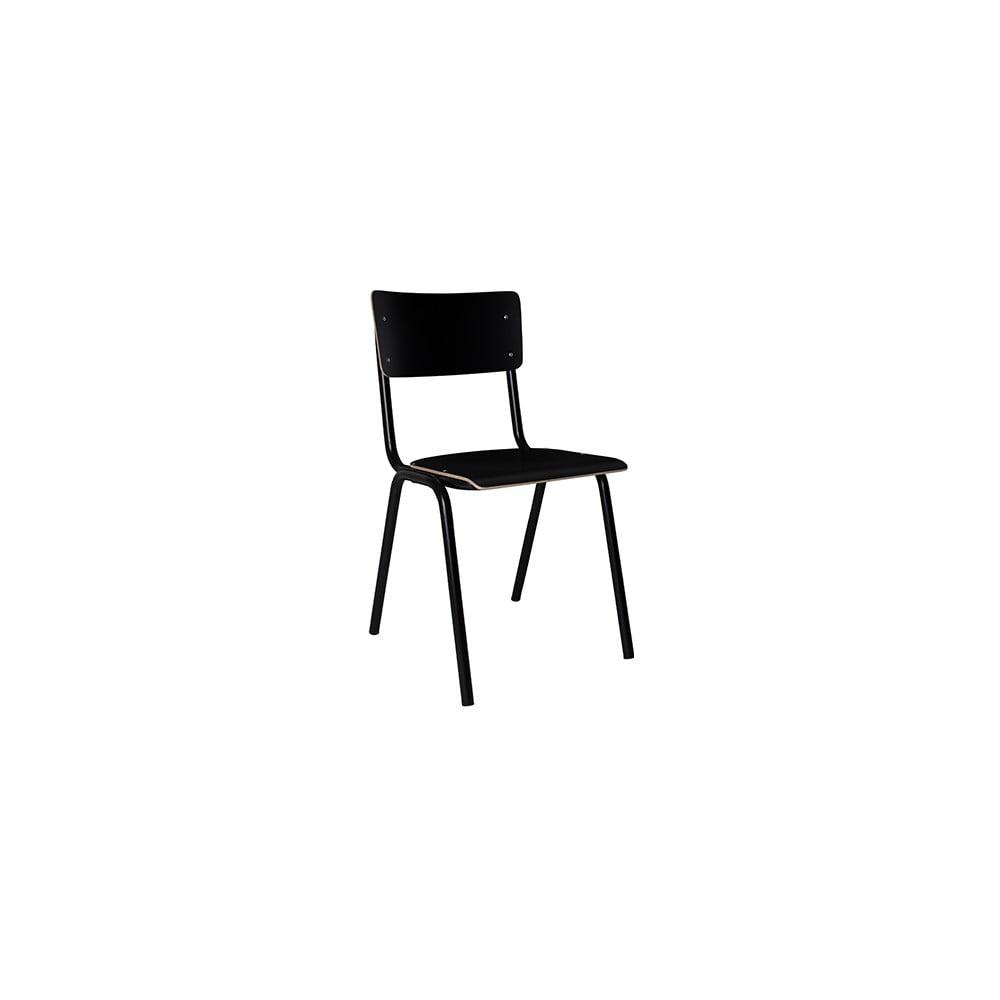 Černá jídelní židle Zuiver Back to School
