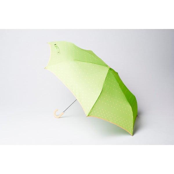 Skládací deštník Dots, zelený