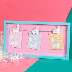 Dekorativní rám na připínání fotografií a vzkazů Just 4 Kids Llama