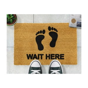 Covor intrare Artsy Doormats Wait Here, 40 x 60 cm