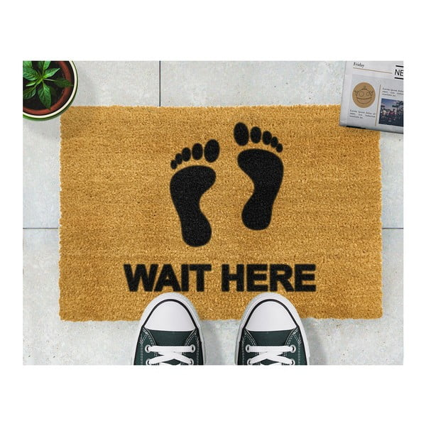 Rohožka Artsy Doormats Wait Here,40x60cm