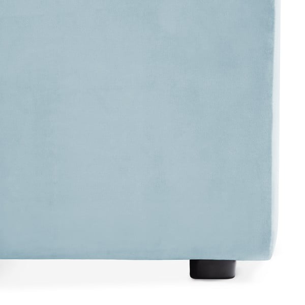 Nebesky modrý prostřední modul pohovky Vivonita Velvet Cube