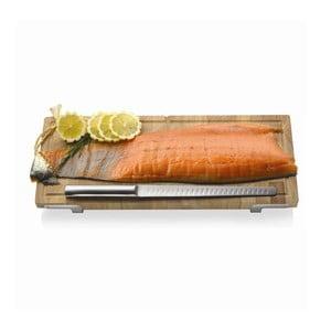 Prkénko s nožem na lososa/šunku