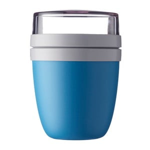 Modrý svačinový box na jogurt Rosti Mepal Ellipse