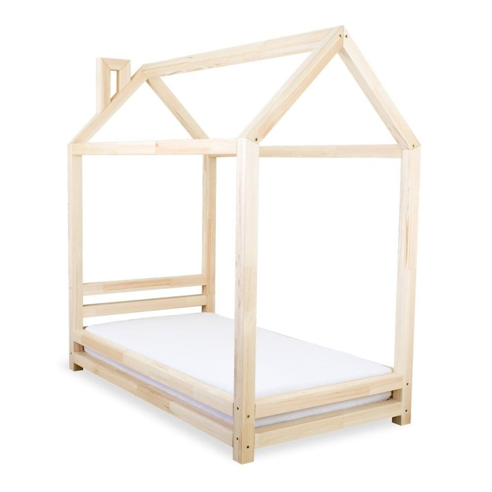 Dětská postel z přírodního borovicového dřeva Benlemi Happy, 80 x 160 cm