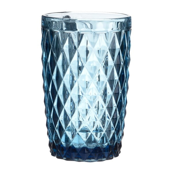 Sada 6 modrých sklenic na vodu InArt Enigma
