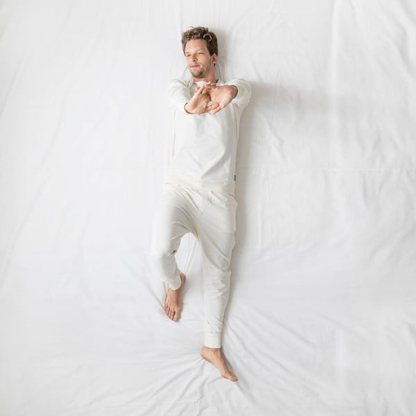 Pánské bílé kalhoty Snurk Uni, vel. XL