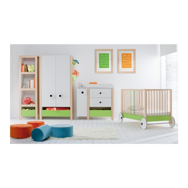 Oranžovo-zelená knihovna Vox Meee
