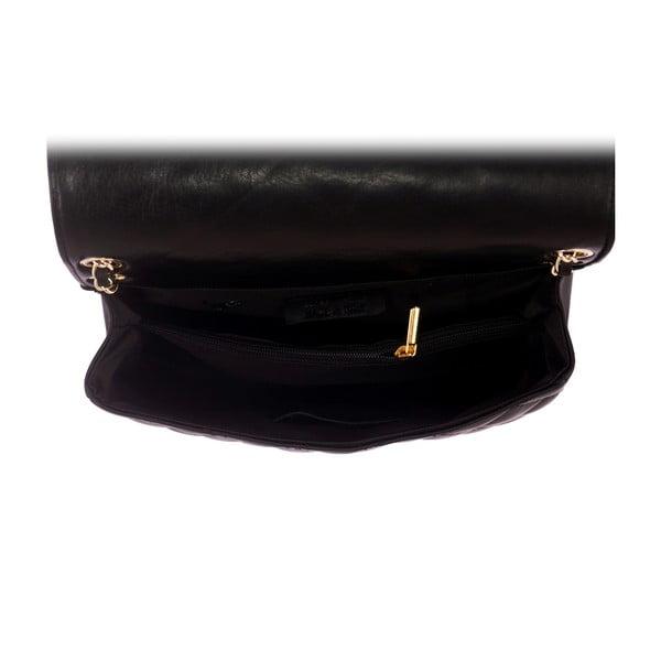 Černá kožená kabelka Andrea Cardone 2024