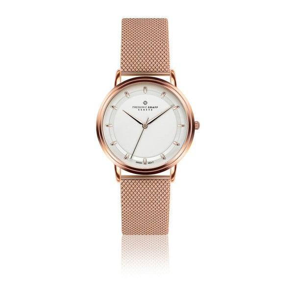 Unisex hodinky s remienkom v zlatoružovej farbe z antikoro ocele Frederic Graff Parido