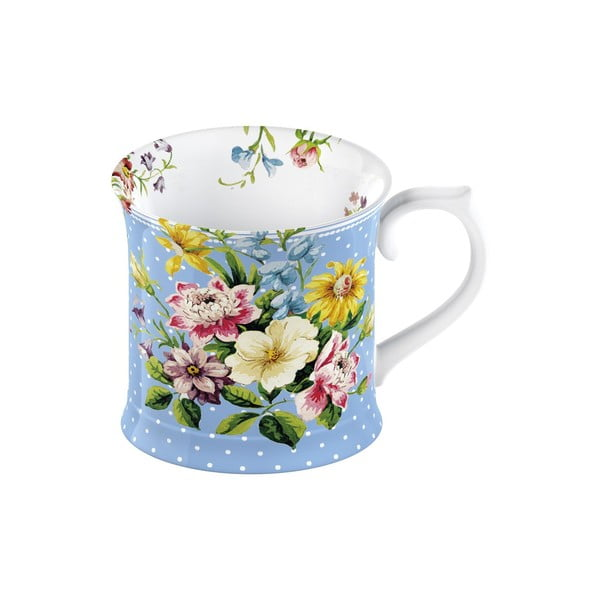 Niebieski kubek porcelanowy Creative Tops English Garden, 350 ml
