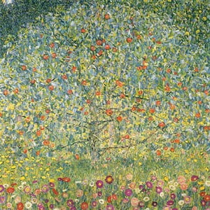 Reproducere tablou Gustav Klimt - Apple Tree, 50 x 50 cm