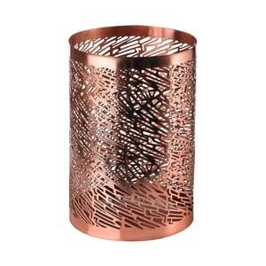 Svícen v měděné barvě pols potten Pierced, výška 15 cm