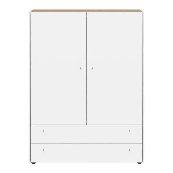 Bílá skříň se 2 zásuvkami Germania Monteo