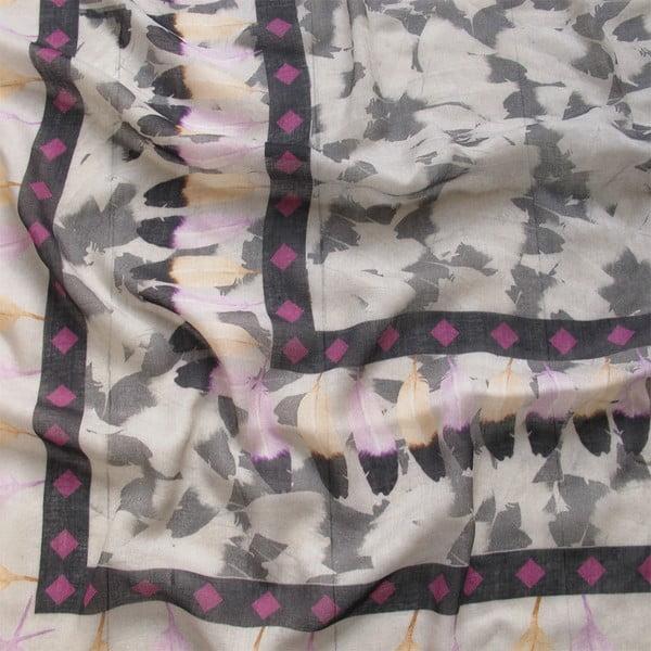 Vlněný šátek s kašmírem Plumiere, 130x130 cm