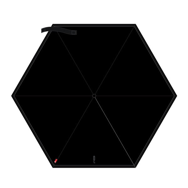 Skládací deštník 0 %, černý