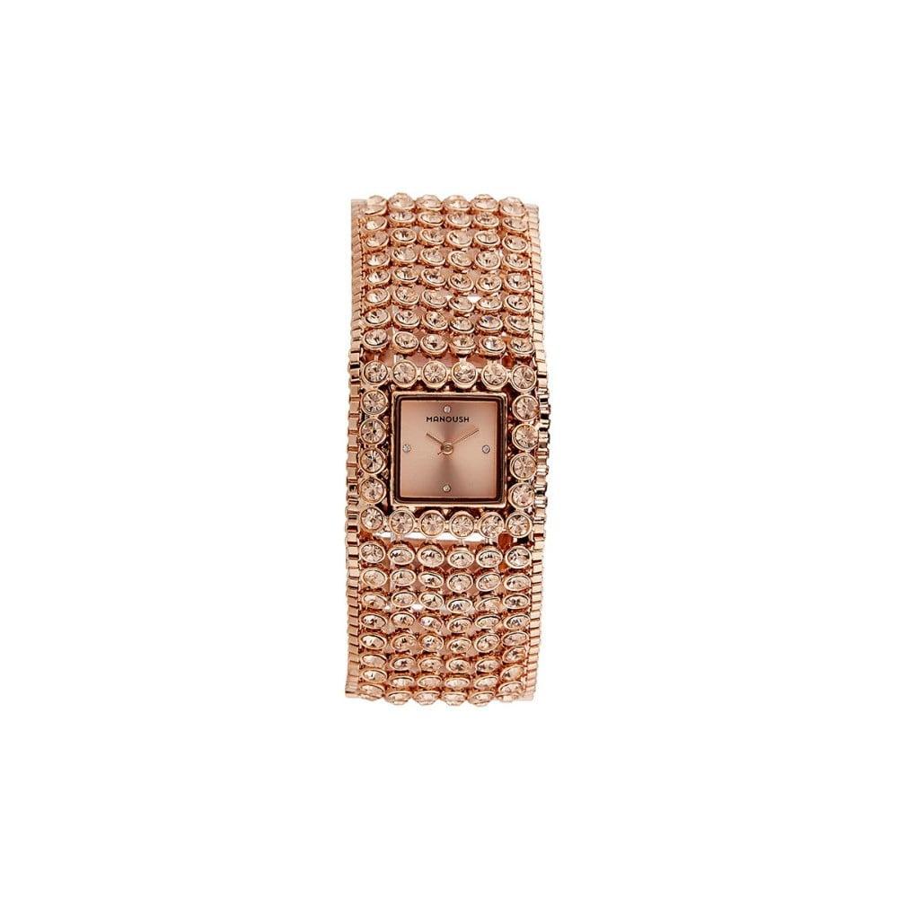 741e5bd73ce Dámské hodinky s krystaly Manoush Adriana
