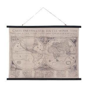 Nástěnná černo-bílá mapa Clayre & Eef