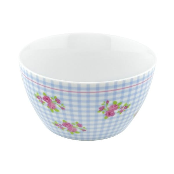 Porcelánová miska Karo, modrá 4 ks