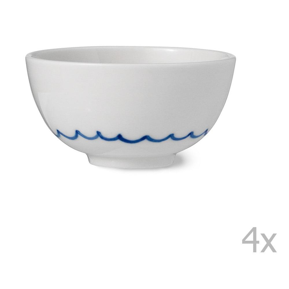 Sada 4 ručně vyráběných porcelánových misek Anne Black Agate, výška 4 cm