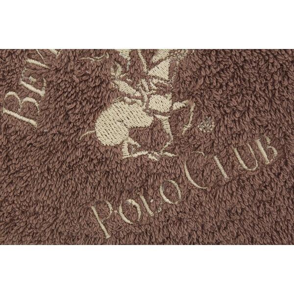 Hnědý bavlněný ručník BHPC, 50x100 cm
