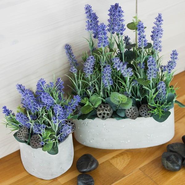 Květinová dekorace od Aranžérie, sada květináčů s levandulemi