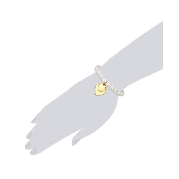 Náramek s bílou perlou ⌀8 mm Perldesse Ode, délka19cm