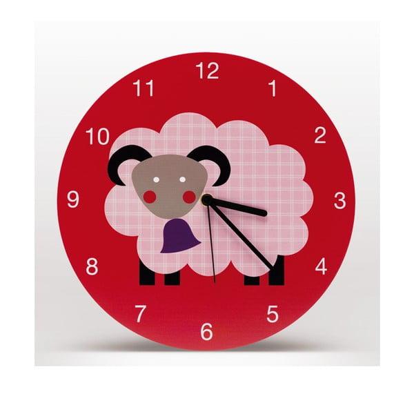Lavmi nástěnné hodiny Marketa, červené