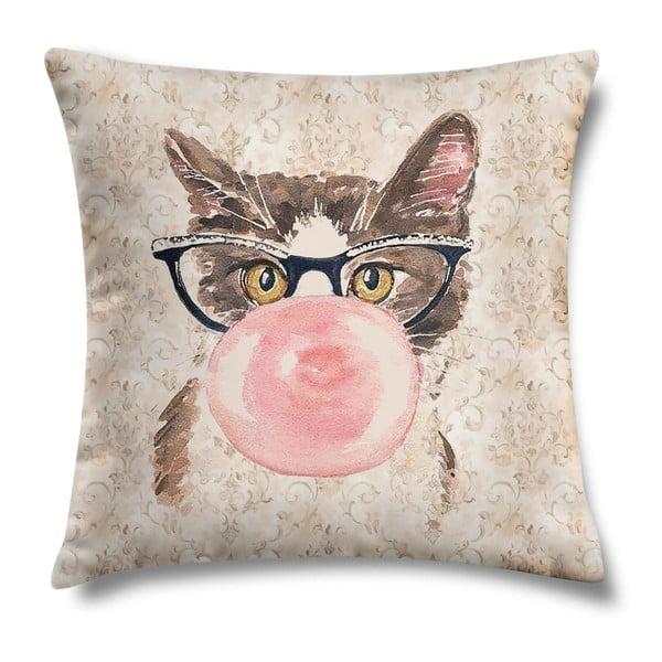 Polštář Bubblegum Kitty, 43x43 cm