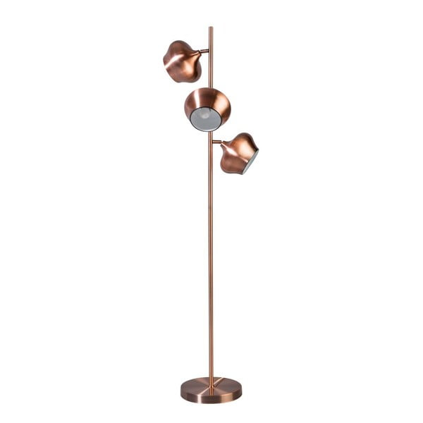 Měděná stojací lampa ETH Ajaccio Aaron