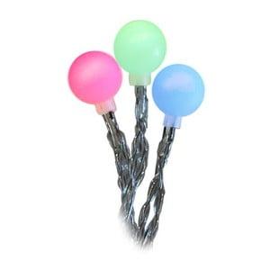 Venkovní světelný řetěz Balls Multi, 2,7 m